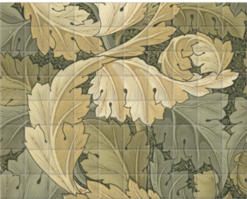 'Acanthus Wallpaper' Ceramic Tile Mural