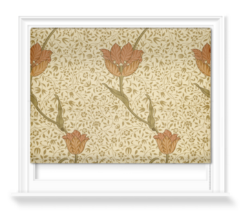 'Garden Tulip Wallpaper' Roller Blind