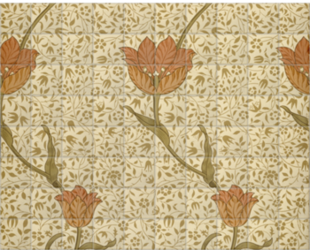 'Garden Tulip Wallpaper' Ceramic Tile Mural