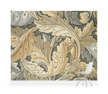 'Acanthus (gold)' Wallpaper Mural