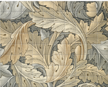 'Acanthus (gold)' Ceramic Tile Mural