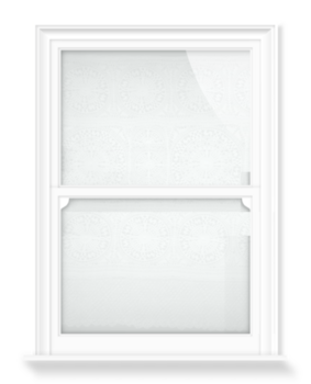'Spanish Flounce ñ White' Decorative Window Film