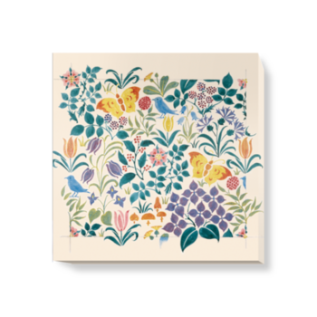 'Small Stylised Flowers' Canvas Wall Art
