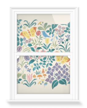 'Small Stylised Flowers' Decorative Window Film