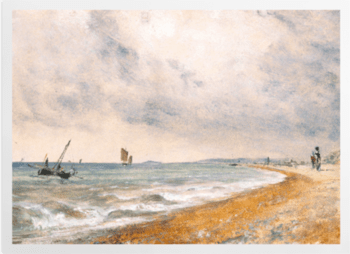 'Hove Beach, with Fishing Boats' Art Prints