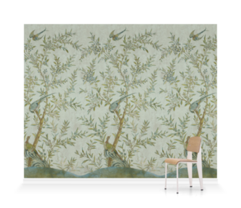 'Wotton-Under-Edge Chinoiserie Mist Green' Wallpaper murals
