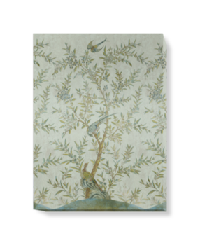 'Wotton-Under-Edge Chinoiserie Mist Green' Canvas wall art