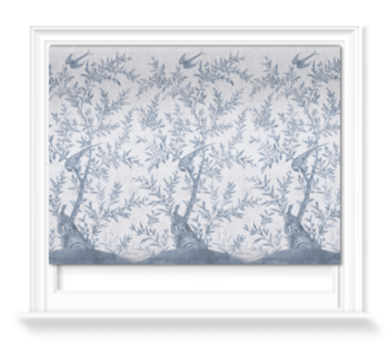 'Wotton-Under-Edge Chinoiserie Clay Blue' Roller blinds