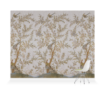 'Wotton-Under-Edge Chinoiserie Stone' Wallpaper murals