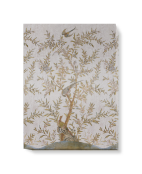 'Wotton-Under-Edge Chinoiserie Stone' Canvas wall art