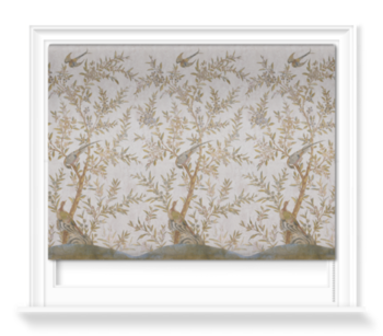 'Wotton-Under-Edge Chinoiserie Stone' Roller blinds