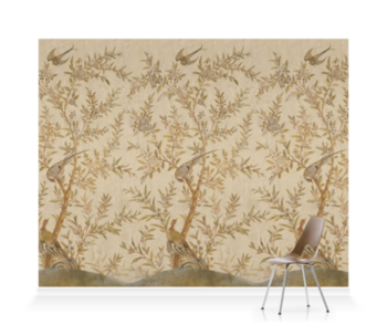 'Wotton-Under-Edge Chinoiserie Parchment' Wallpaper murals
