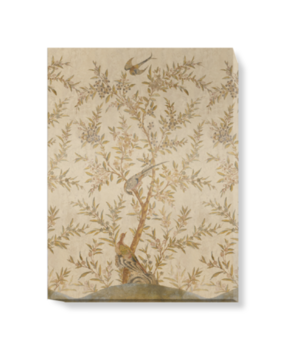 'Wotton-Under-Edge Chinoiserie Parchment' Canvas wall art