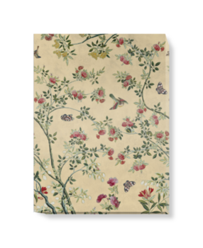 'Camellia Chinoiserie Parchment' Canvas wall art