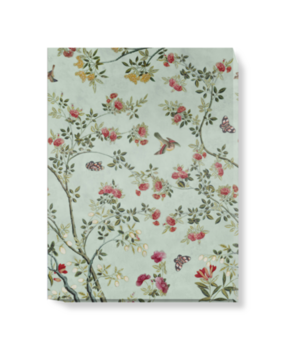 'Camellia Chinoiserie Duck Egg' Canvas wall art