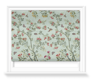 'Camellia Chinoiserie Duck Egg' Roller blinds