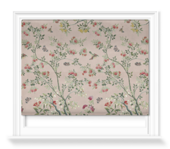 'Camellia Chinoiserie Plaster Pink' Roller blinds