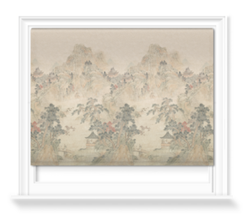 'Ming Mountain Scenic Linen' Roller blinds