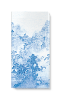 'Ming Mountain Scenic China Blue' Canvas wall art
