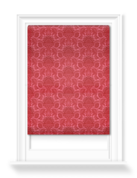 'Lydiard Damask Vermillion Red' Roller blinds