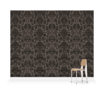 'Lydiard Damask Charcoal' Wallpaper murals