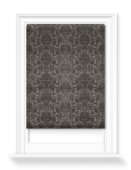 'Lydiard Damask Charcoal' Roller blinds