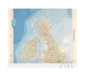 'The British Isles' Wallpaper Mural