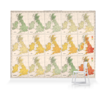 'Isotherms - British Isles' Wallpaper Mural