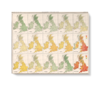 'Isotherms - British Isles' Canvas Wall Art
