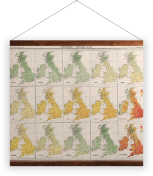 'Isotherms - British Isles' Wall Hanging