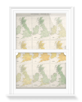 'Isotherms - British Isles' Decorative Window Film