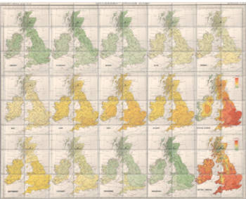'Isotherms - British Isles' Ceramic Tile Mural