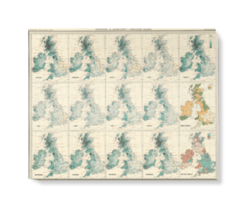 'Isobars & Isohyets - British Isles' Canvas Wall Art