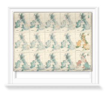 'Isobars & Isohyets - British Isles' Roller Blind
