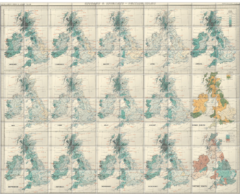 'Isobars & Isohyets - British Isles' Ceramic Tile Mural