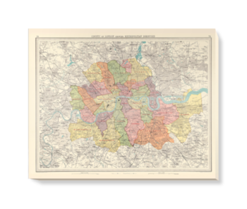 'County of London' Canvas Wall Art