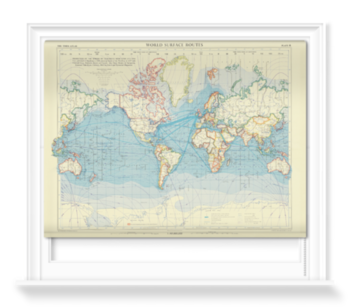 'World Surface Routes' Roller Blind