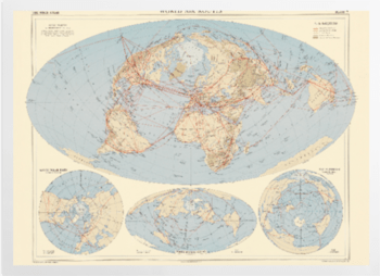'World Air Routes' Art Prints