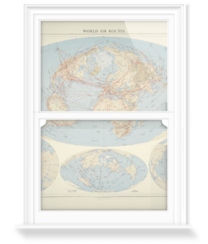 'World Air Routes' Decorative Window Film