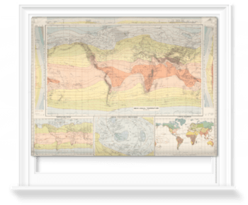 'Isotherms - World' Roller Blind