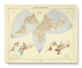'World Physiography' Canvas Wall Art