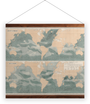 'Winds over the Oceans' Wall Hanging