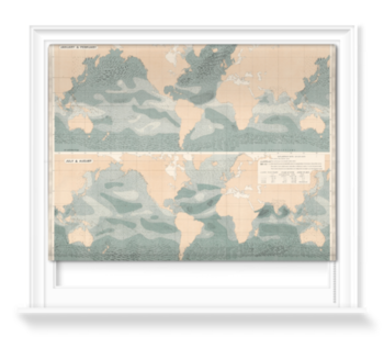 'Winds over the Oceans' Roller Blind