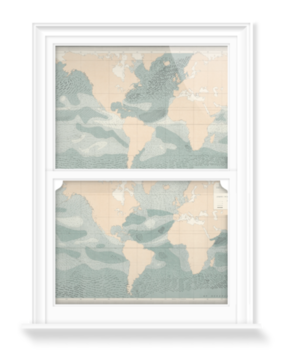 'Winds over the Oceans' Decorative Window Film