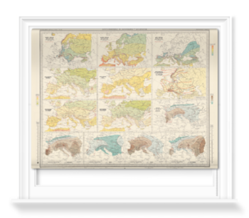 'Isotherms and Isobars - Europe' Roller Blind
