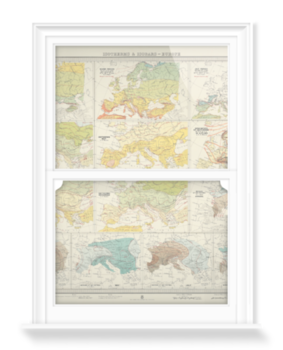 'Isotherms and Isobars - Europe' Decorative Window Film