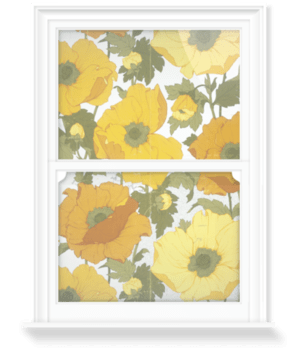 'Summer Poppies' Decorative Window Film