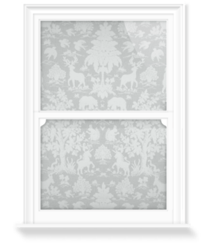 'Garden of Eden I - Grey' Decorative Window Film