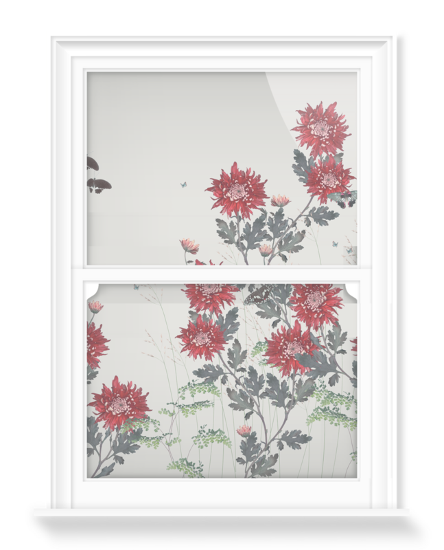 'Chrysanthemum - Flame' Decorative Window Film