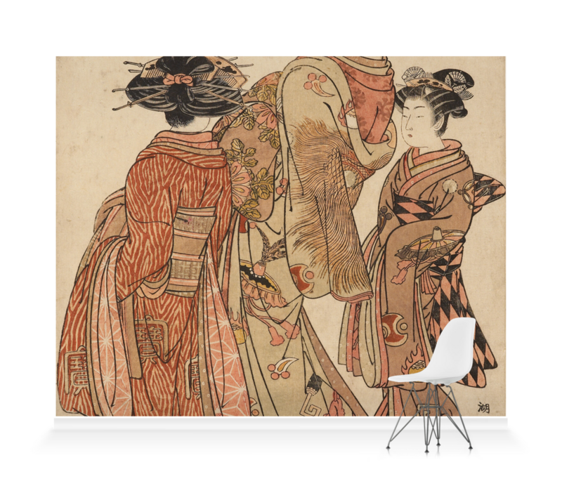 'The Courtesan Tagasode of Daimonji-ya' Wallpaper Mural